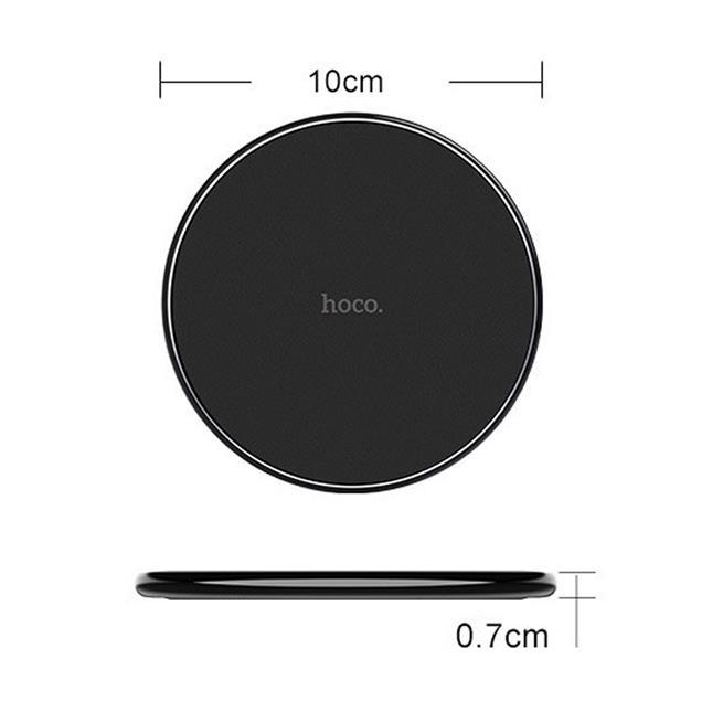 Hoco Wireless QI Charger CW6 Ultra Slim kabelloses Ladegerät Induktion schnelle Aufladung in Weiss