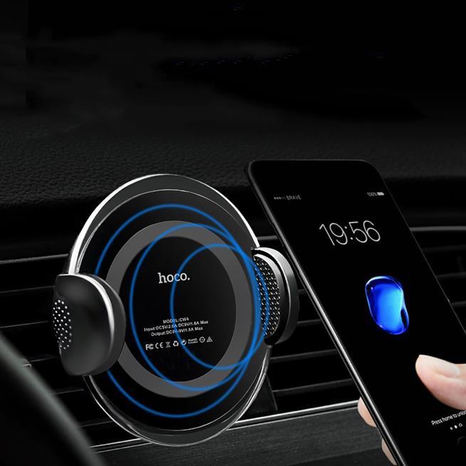 Hoco Noble CW4 Universal KFZ Halterung mit QI Wireless Ladefunktion Auto Halterung Lüftung