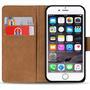 Basic Bookcase Hülle für Apple iPhone 6 Plus / 6S Plus Klapphülle Tasche mit Kartenfächer in Rot