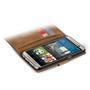 Basic Bookcase Hülle für HTC One M8 Klapphülle Tasche mit Kartenfächer in Blau