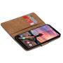 Basic Bookcase Hülle für HTC U12+ klappbare Tasche mit Kartenfächern