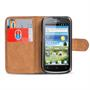 Basic Bookcase Hülle für Huawei Ascend G300 Klapphülle Tasche mit Kartenfächer in Schwarz