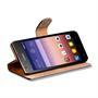 Basic Bookcase Hülle für Huawei Ascend G620s Klapphülle Tasche mit Kartenfächer in Schwarz