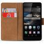 Basic Bookcase Hülle für Huawei P8 Lite Klapphülle Tasche mit Kartenfächer in Schwarz