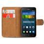 Basic Bookcase Hülle für Huawei Ascend Y3 Klapphülle Tasche mit Kartenfächer in Schwarz