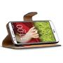 Basic Bookcase Hülle für LG G2 klappbare Schutzhülle mit Kartenfächern