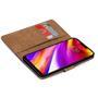 Basic Bookcase Hülle für LG G7 klappbare Schutzhülle mit Kartenfächern
