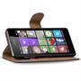 Basic Bookcase Hülle für Microsoft Lumia 540 Tasche mit Kartenfächern