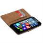 Basic Bookcase Hülle für Microsoft Lumia 640 Tasche mit Kartenfächern