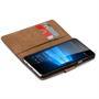 Basic Bookcase Hülle für Microsoft Lumia 950 XL Klapphülle Tasche mit Kartenfächer in Schwarz