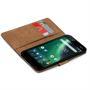 Basic Bookcase Hülle für Nokia 2.1 klappbare Tasche mit Kartenfächern