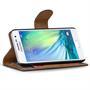 Basic Bookcase Hülle für Samsung Galaxy A3 Klapphülle Tasche mit Kartenfächer in Blau