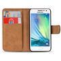 Basic Bookcase Hülle für Samsung Galaxy A3 2015 aufstellbares Etui