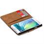Basic Bookcase Hülle für Samsung Galaxy A3 Klapphülle Tasche mit Kartenfächer in Grün