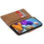 Basic Bookcase Hülle für Samsung Galaxy A41 Case klappbare Schutzhülle