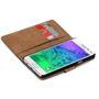 Basic Bookcase Hülle für Samsung Galaxy Alpha Klapphülle Tasche mit Kartenfächer in Lila