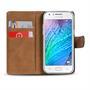 Basic Bookcase Hülle für Samsung Galaxy J1 2015 klappbare Schutzhülle