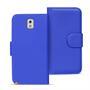 Basic Bookcase Hülle für Samsung Galaxy Note 3 Klapphülle Tasche mit Kartenfächer in Blau