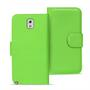 Basic Bookcase Hülle für Samsung Galaxy Note 3 Klapphülle Tasche mit Kartenfächer in Grün
