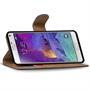 Basic Bookcase Hülle für Samsung Galaxy Note 4 Klapphülle Tasche mit Kartenfächer in Rot