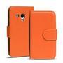 Basic Bookcase Hülle für Samsung Galaxy S3 Mini Klapphülle Tasche mit Kartenfächer in Orange
