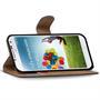 Basic Bookcase Hülle für Samsung Galaxy S4 Klapphülle Tasche mit Kartenfächer in Grau