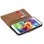 Basic Bookcase Hülle für Samsung Galaxy S5 Case klappbare Schutzhülle