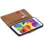Basic Bookcase Hülle für Samsung Galaxy S5 / S5 Neo Klapphülle Tasche mit Kartenfächer in Braun