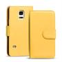 Basic Bookcase Hülle für Samsung Galaxy S5 Mini Klapphülle Tasche mit Kartenfächer in Gelb