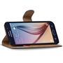 Basic Bookcase Hülle für Samsung Galaxy S6 Klapphülle Tasche mit Kartenfächer in Gelb