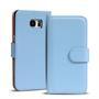 Basic Bookcase Hülle für Samsung Galaxy S6 Edge Klapphülle Tasche mit Kartenfächer in Hellblau