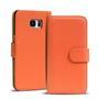 Basic Bookcase Hülle für Samsung Galaxy S6 Edge Klapphülle Tasche mit Kartenfächer in Orange