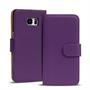Basic Bookcase Hülle für Samsung Galaxy S6 Edge Plus Klapphülle Tasche mit Kartenfächer in Lila