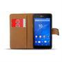 Basic Bookcase Hülle für Sony Xperia E4g Klapphülle Tasche mit Kartenfächer in Schwarz