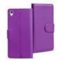 Basic Bookcase Hülle für Sony Xperia Z3 Klapphülle Tasche mit Kartenfächer in Lila