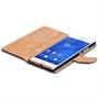 Basic Bookcase Hülle für Sony Xperia Z3 Plus Klapphülle Tasche mit Kartenfächer in Lila