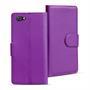 Basic Bookcase Hülle für Sony Xperia Z5 Compact Klapphülle Tasche mit Kartenfächer in Lila