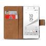 Basic Bookcase Hülle für Sony Xperia Z5 Premium Klapphülle Tasche mit Kartenfächer in Grün