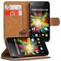 Basic Bookcase Hülle für Wiko Birdy 4G Klapphülle Tasche mit Kartenfächer