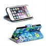 Motiv Klapphülle für Apple iPhone 6 Plus / 6S Plus buntes Wallet Case