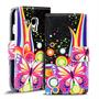 Motiv Klapphülle für Samsung Galaxy S3 Mini buntes Wallet Schutzhülle