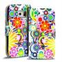 Motiv Klapphülle für Samsung Galaxy S6 buntes Wallet Schutzhülle