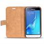 Retro Klapptasche für Samsung Galaxy J1 2016 aufstellbares Book Wallet
