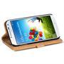 Retro Klapptasche für Samsung Galaxy S4 aufstellbares Book Wallet