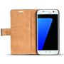 Retro Klapptasche für Samsung Galaxy S7 aufstellbares Book Wallet