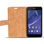 Retro Klapptasche für Sony Xperia Z2 Schutzhülle mit Kartenfächern