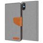 Book Wallet für Apple iPhone XS MAX Schutzhülle Cover im Jeans-Look