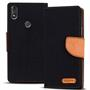 Wallet Tasche für Wiko View Max klappbare Schutzhülle im Jeans-Look