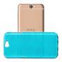 Brushed Silikonhülle für HTC One A9 Schutzhülle Cover im gebürstetem Design Metallic Look in Blau