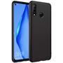 Silikon Hülle für Huawei P40 Lite E Schutzhülle Matt Schwarz Backcover Handy Case